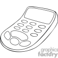 black and white outline of a calculator with large buttons gif, png, jpg, eps, svg, pdf