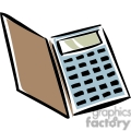 Cartoon calculator with case