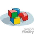 cartoon building blocks