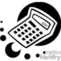 Black and white calculator