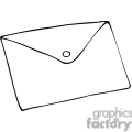 Black and white outline of an envelope