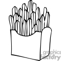 french fries outline