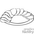 snack plate outline gif, png, jpg, eps, svg, pdf