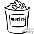 popcorn outline gif, png, jpg, eps, svg, pdf