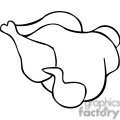 chicken  outline