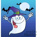 cartoon ghost at night gif, png, jpg, eps, svg, pdf
