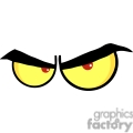 evil cartoon eyes