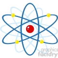 12835 RF Clipart Illustration Atom