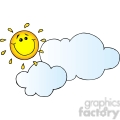 12893 rf clipart illustration smiling sun behind cloud cartoon character  gif, png, jpg, eps, svg, pdf