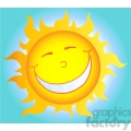 129012 RF Clipart Illustration Happy Smiling Sun Cartoon Character
