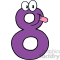 5014-Clipart-Illustration-of-Number-Eight-Cartoon-Mascot-Character
