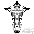 cross clip art tattoo illustrations 029