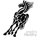 horse tribal design