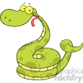 5146-Happy-Snake-Cartoon-Character-Royalty-Free-RF-Clipart-Image