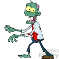 5080-Blue-Cartoon-Zombie-Walking-With-Hands-In-Front-Royalty-Free-RF-Clipart-Image