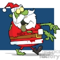 5087-Santa-Zombie-Walking-With-Hands-In-Front-Royalty-Free-RF-Clipart-Image