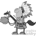 5130-Indian-Chief-With-Gun-On-Horse-Royalty-Free-RF-Clipart-Image