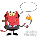 clipart of devil boss holding a flaming bad contract in his hand and speech bubble  gif, png, jpg, eps, svg, pdf