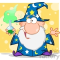 rf crazy wizard holding a green magic potion  gif, png, jpg, eps, svg, pdf