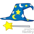 clipart of wizard hat and magic stick