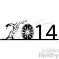 2014 skiing clipart