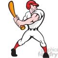 baseball player batting side