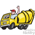 cement mixer driver wave  gif, png, jpg, eps, svg, pdf