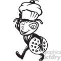 black and white ant carry cupcake cookie  gif, png, jpg, eps, svg, pdf