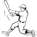 baseball batter swinging black white clipart  gif, png, jpg, eps, svg, pdf