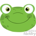 5648 royalty free clip art cute frog smiling head