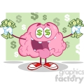 5832 royalty free clip art money loving brain cartoon character  gif, png, jpg, eps, svg, pdf
