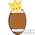 6568 royalty free clip art american football ball with gold crown  gif, png, jpg, eps, svg, pdf