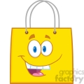 6720 royalty free clip art happy yellow shopping bag cartoon mascot character  gif, png, jpg, eps, svg, pdf