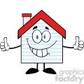 6475 royalty free clip art smiling house cartoon character with new siding  gif, png, jpg, eps, svg, pdf
