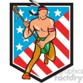 lacrosse indian player running shield  gif, png, jpg, eps, svg, pdf