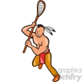 lacrosse indian player running right side  gif, png, jpg, eps, svg, pdf
