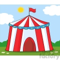 royalty free rf clipart illustration big circus tent on meadow  gif, png, jpg, eps, svg, pdf