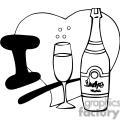 i love champagne outline  gif, png, jpg, eps, svg, pdf