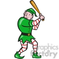 elf batting stance front  gif, png, jpg, eps, svg, pdf