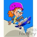 cartoon skateboarding kid