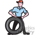 mechanic tire technician shape