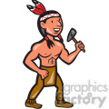 native american indian tomahawk shape  gif, png, jpg, eps, svg, pdf