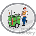 man taking garbage cart out shape