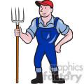 farmer pitchfork frnt shape  gif, png, jpg, eps, svg, pdf