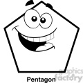geometry pentagon cartoon face math clip art graphics images