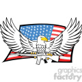 eagle holding gun in talons