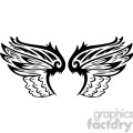 vinyl ready vector wing tattoo design 053