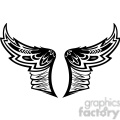 vinyl ready vector wing tattoo design 014