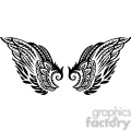 feather angel wing tattoo art