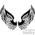 vinyl ready vector wing tattoo design 049